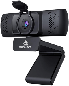 2021 1080P Streaming Business Webcam with Microphone & Privacy Cover