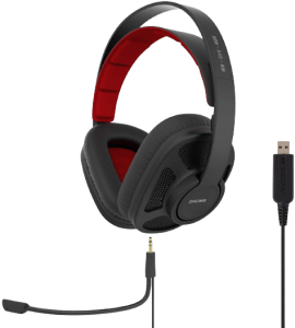 Koss GMR-545-AIR USB Over-Ear Gaming Headphones, Two Cords with Microphone Included, Open-Back Design, Wired with USB Plug