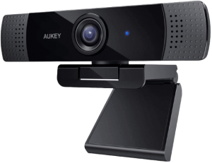AUKEY FHD Webcam, 1080p Live Streaming Camera with Stereo Microphone