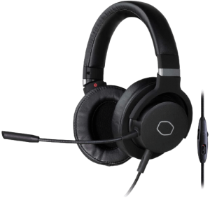 Cooler Master MH-751 MH751 2.0 Gaming Headset with Plush, Swiveled Earcups, 40mm Neodymium Drivers, and Omni-Directional Boom Mic for PC, PS4, and Xbox,Black