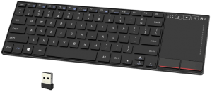 Rii K22 Ultra Slim 2.4 Gigahertz Mini Wireless Multimedia Keyboard with Touchpad for PC and Laptop
