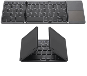 Foldable Bluetooth Keyboard, Jelly Comb Pocket Size Portable Mini BT Wireless Keyboard with Touchpad for Android, Windows