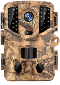 Trail Camera with 16MP and 1080P Hunting Cameras with No-Glow Infrared Night Vision
