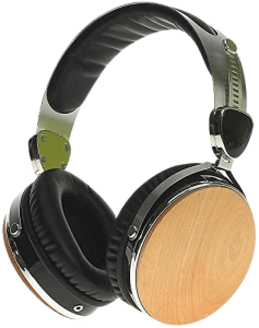 Symphonized Headphones | Over-The-Ear Wired Noise-isolating Wraith 2.0 Premium Genuine Wood Earphones with Mic