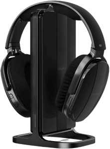 HSPRO Wireless TV Headphones, Over Ear Headsets with Wireless 2.4GHz RF Transmitter